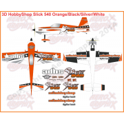 3D Hobby Shop Slick 540 Orange/Black/Silver/White 50-120 cc size