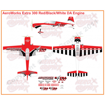 AeroWorks Extra 300 Red/Black/White 50-170 cc size