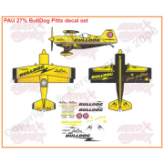 PAU 27% BullDog Pitts 50-60 cc size Decal Package