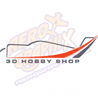 3D Hobby Shop Logo (Grey/Red)